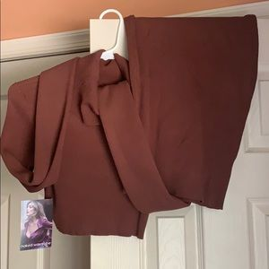 2 Piece Brown Top and Skirt Set from NakedWardrobe